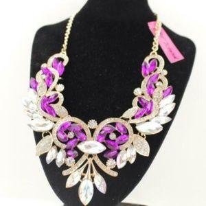 Beautiful shourouk wind rainbow necklace